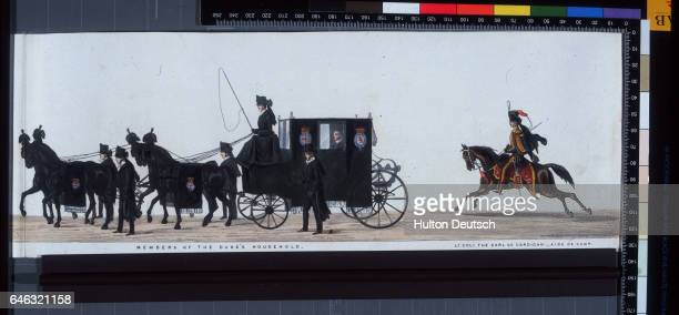 Members of the Duke of Wellington's household including Lieutenant Colonel the Earl of Cardigan aide de campe in his funeral procession through London