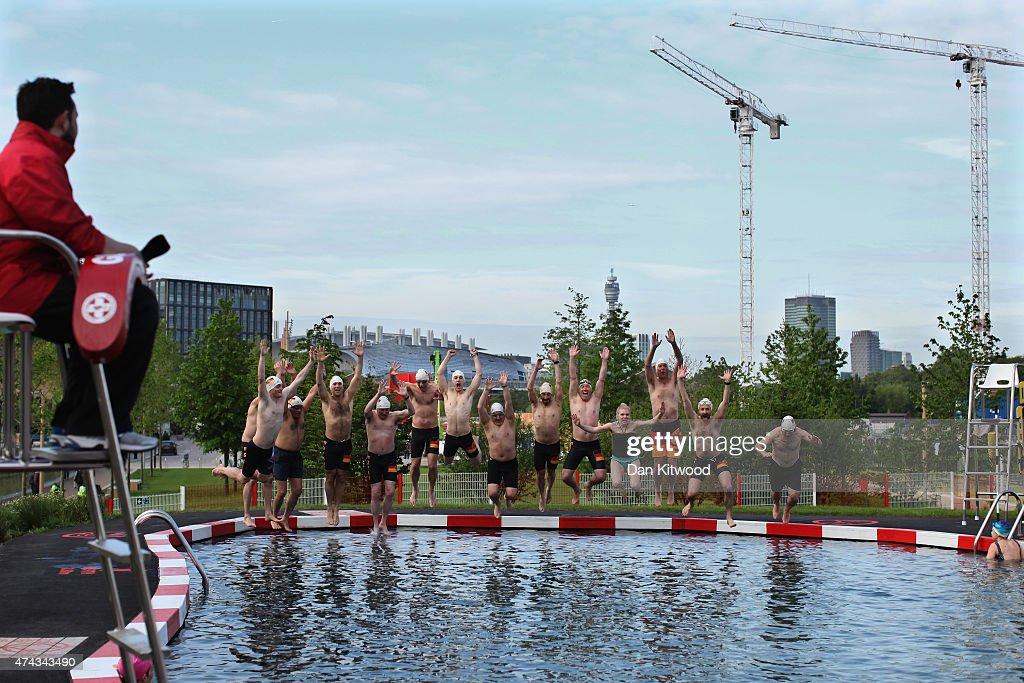 Members Of The East German Ladies 39 Swimming Team Jump In The New 39 King 39 S Cross Pond Club