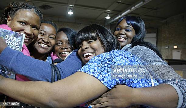 Members of 'The Empowered Fe Fes' women's group from left Kandace Robinson Brittany King Shelby Cain and Stephanie Jackson with Access Living...