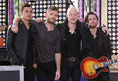 Members of The Fray Joe King Ben Wysocki Isaac Slade and Dave Welsh perform on NBC's 'Today' at Rockefeller Plaza on August 13 2012 in New York City