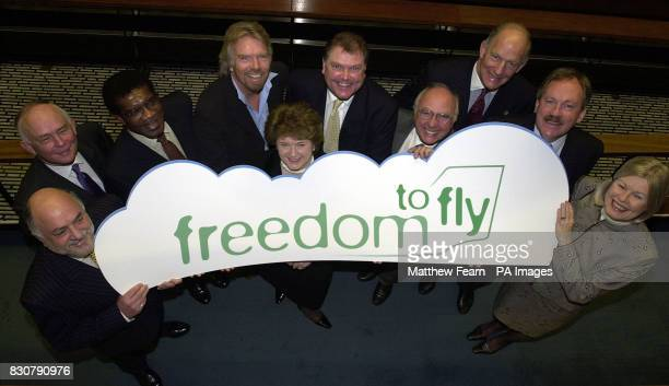 Members of the Freedom to Fly coalition Chairman of the Air Transport Users Council Ian Hamer CEO of BAA Mike Hodgkinson General Secretary of the...
