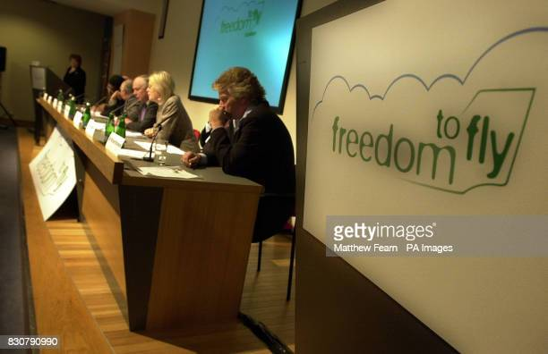 Members of the Freedom to Fly coalition during the coalition's launch in London The coalition which is made up of companies in the aviation and...