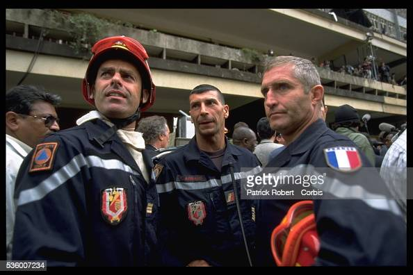 Members of the French civil security from Brignoles