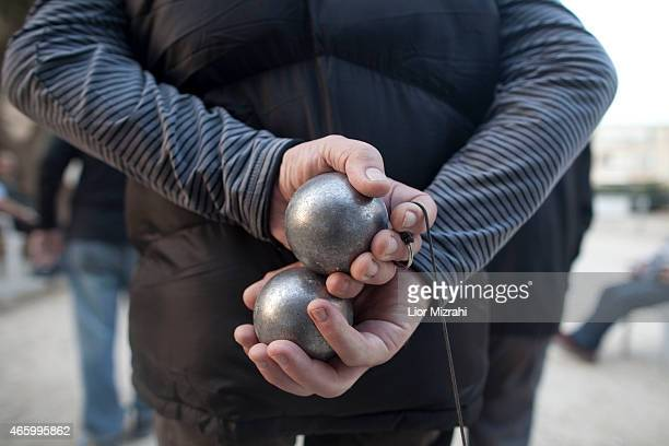 Members of the French community play Petanque at a club on March 10 2015 in Netanya Israel The recent wave of antiSemetism that has swept over France...