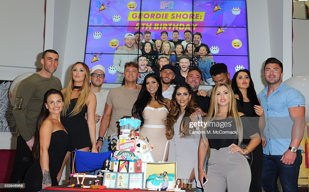 Members of the Geordie Shore Cast celebrate their fifth birthday at MTV London on May 24, 2016 in London, England.