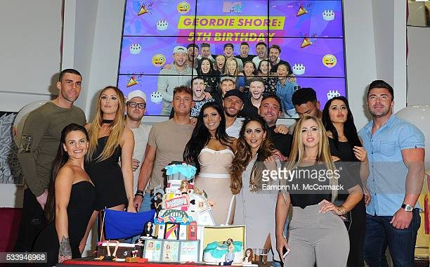 Members of the Geordie Shore Cast celebrate their fifth birthday at MTV London on May 24 2016 in London England