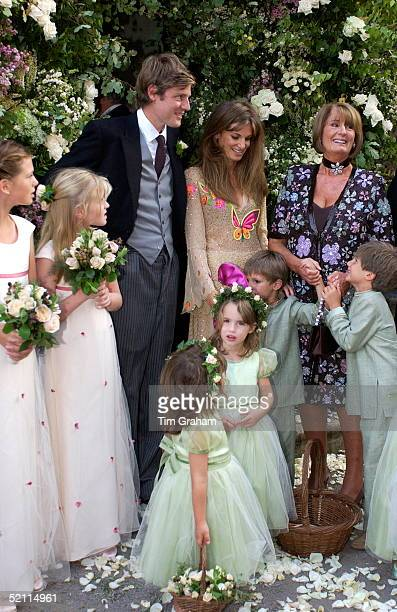 Members Of The Goldsmith Family Gathering After The Marriage Of Ben Goldsmith With Her Son Zac And Daughter Jemima Khan Is Lady Annabel Goldsmith...