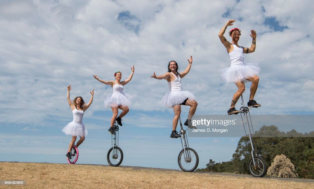 Members of the great unicycle ballet performing on October 7, 2017 in Sydney, Australia. The Big Adventure at Sydney Park is part of the month-long Sydney Rides Festival, aimed at encouraging Sydney residents to get outdoors and be active.