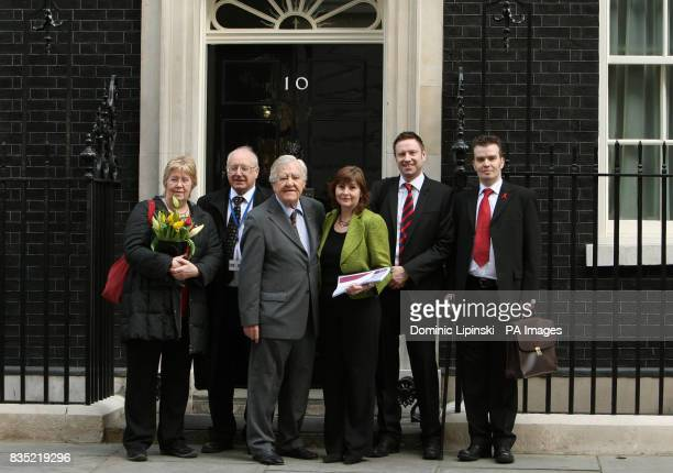 Members of the Haemophilia Society Sue Threakall MP for Knowsley South Eddie O'Hara Patron of the Haemophilia Society Lord Morris of Manchester the...