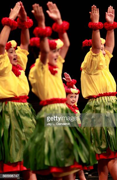 Members of the Halau Hula O Ka'eo hula dance school competed in the group Auana performance as part of the 17th annual hula and chant competition...