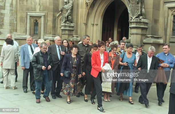 Members of the Hillsborough Family Support Group arrive at the House of Commons today for a meeting with Home Secretary Jack Straw The families...