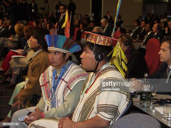 Members of the Inuit delegation at the World Summit for Sustainable Development