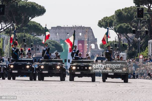 Members of the Italian Armed Forces attend the military parade during the celebrations of the Italian Republic Day on June 2 2017 in Rome Italy
