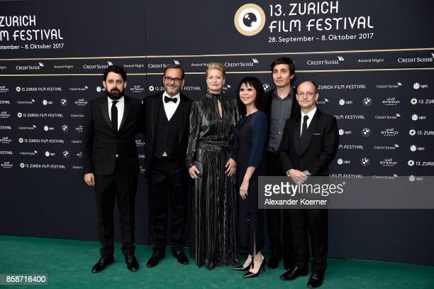 Members of the jury for international feature film Lucas Ochoa Michel Merkt president Trine Dyrholm Mabel Cheung Paul Negoescu and Ed Guiney attend...