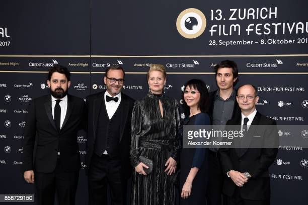 Members of the jury for international feature film Lucas Ochoa Michel Merkt president Trine Dyrholm Mabel Cheung Paul Negoescu and Ed Guiney attend...