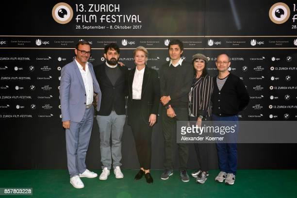 Members of the jury for international feature film Michel Merkt Lucas Ochoa jury president Trine Dyrholm Paul Negoescu Mabel Cheung and Ed Guiney...