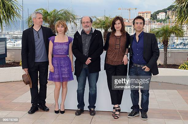 Members of the jury Marc Recha Dinara Droukarova Carloa Diegues Emmanuelle Devos and President of the Jury Atom Egoyan attend Cinefondation Photo...