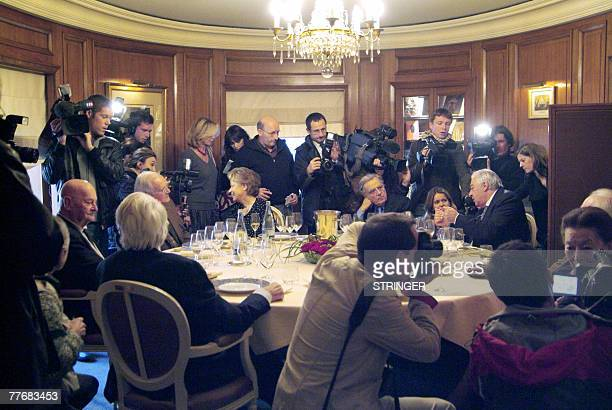 Members of the jury of the 2007 French literature Prix Goncourt French writers Daniel Boulanger Robert Sabatier Franoise Chandernagor Bernard Pivot...