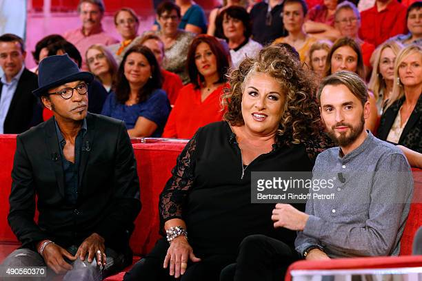 Members of the Jury of the 'Nouvelle Star' Show when Christophe Willem won it Manu Katche and Marianne James and Main Guest of the show singer...