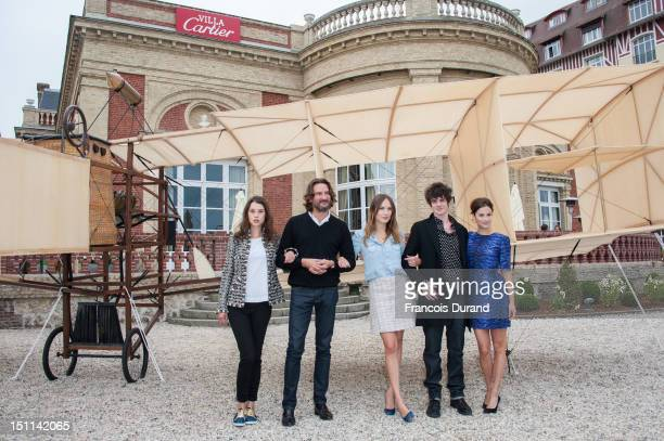 Members of the Jury 'Revelation' FrenchSpanish actress Astrid BergesFrisbey president of the Jury and writer Frederic Beigbeder actress Ana Girardot...