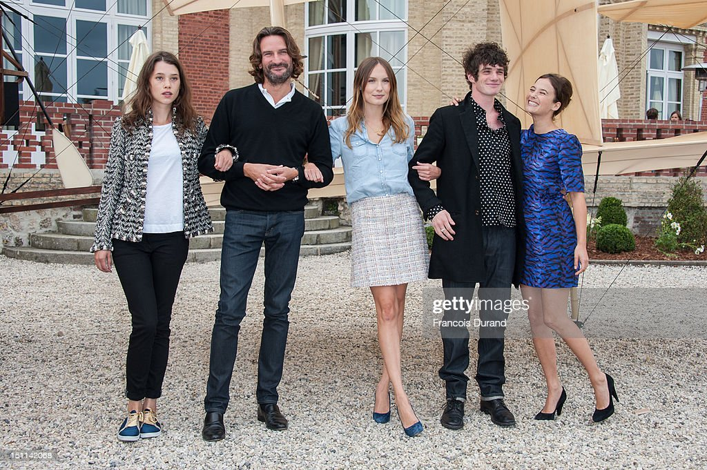 Members of the Jury 'Revelation', French-Spanish actress <a gi-track='captionPersonalityLinkClicked' href=/galleries/search?phrase=Astrid+Berges-Frisbey&family=editorial&specificpeople=5582214 ng-click='$event.stopPropagation()'>Astrid Berges-Frisbey</a> (L), president of the Jury and writer <a gi-track='captionPersonalityLinkClicked' href=/galleries/search?phrase=Frederic+Beigbeder&family=editorial&specificpeople=2164723 ng-click='$event.stopPropagation()'>Frederic Beigbeder</a> (2ndL), actress <a gi-track='captionPersonalityLinkClicked' href=/galleries/search?phrase=Ana+Girardot&family=editorial&specificpeople=6991847 ng-click='$event.stopPropagation()'>Ana Girardot</a> (C), actor Felix Moati (2ndR), and actress <a gi-track='captionPersonalityLinkClicked' href=/galleries/search?phrase=Melanie+Bernier&family=editorial&specificpeople=5586176 ng-click='$event.stopPropagation()'>Melanie Bernier</a> (R) pose during a photocall in 'La Villa Cartier' during the 38th Deauville American Film Festival on September 1, 2012 in Deauville, France.
