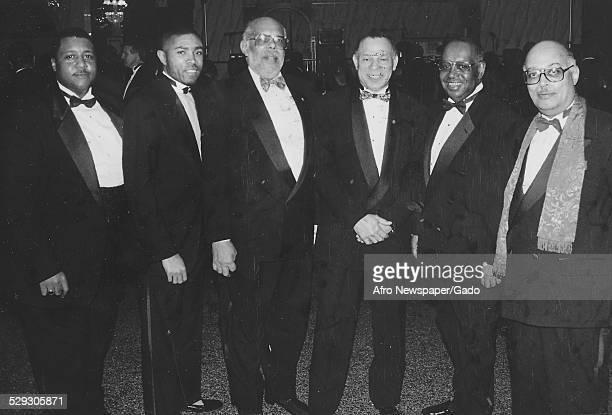 Members of the Kappa Alpha Psi fraternity November 6 1992
