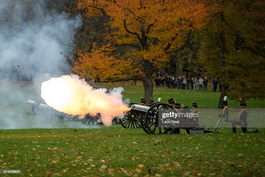 Royal Guns Salute The Prince Of Wales On His 69th Birthday