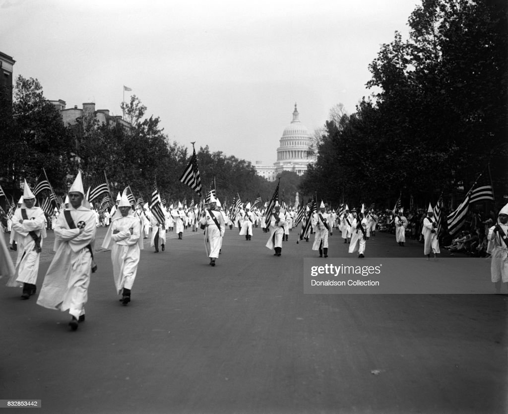 Members of the Ku Klux Klan were allowed to march down the Washington D.C. streets on September 13th in 1926, albeit without their signature masks.