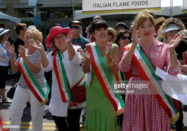 Members of the Le Belle Ragazze perform a song for a gathering audience Crowds gather for the 14th annual Festival Italiano at Belmar shopping center...