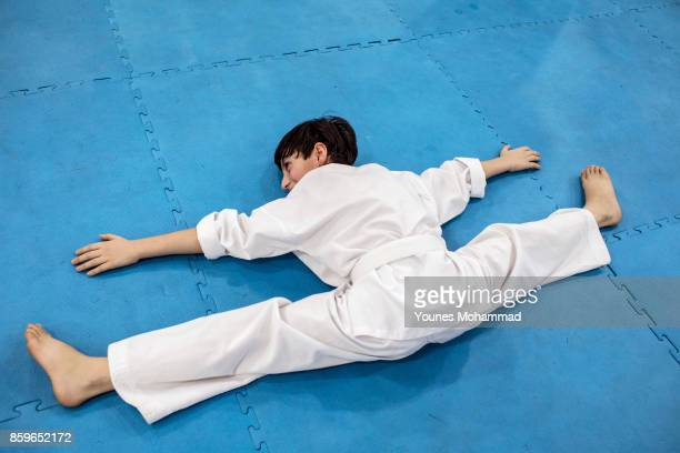 Members of the Malek Taekwondo Centre take part in classes in Erbil Iraq on August 30 2017 The Centre one of many in Erbil is owned and run by a...