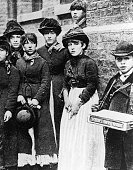 Members of the Matchmakers Union who went on strike at the Bryant and May's factory in London