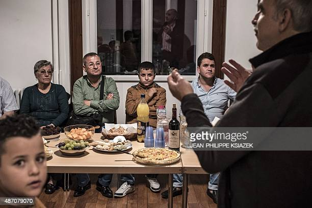 LAFFONT Members of the Mikho family Iraqi Christians who fled the city of Qaraqosh seized by the jihadist group Islamic State in 2014 are welcomed by...