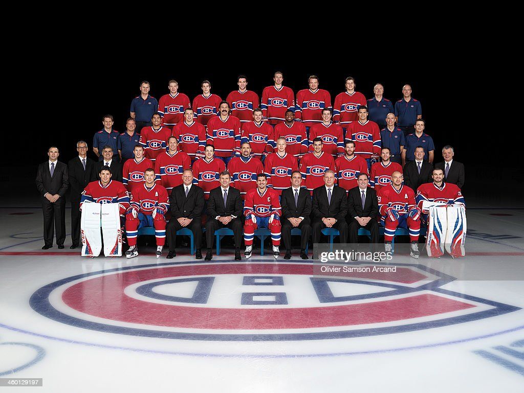 Members of the Montreal Canadiens pose for the official 2013-2014 team photograph at Bell Centre on October 18, 2013 in Montreal, Quebec, Canada.