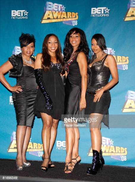 Members of the musical group 'En Vogue' pose in the press room at the 2008 BET Awards held at the Shrine Auditorium on June 24 2008 in Los Angeles...