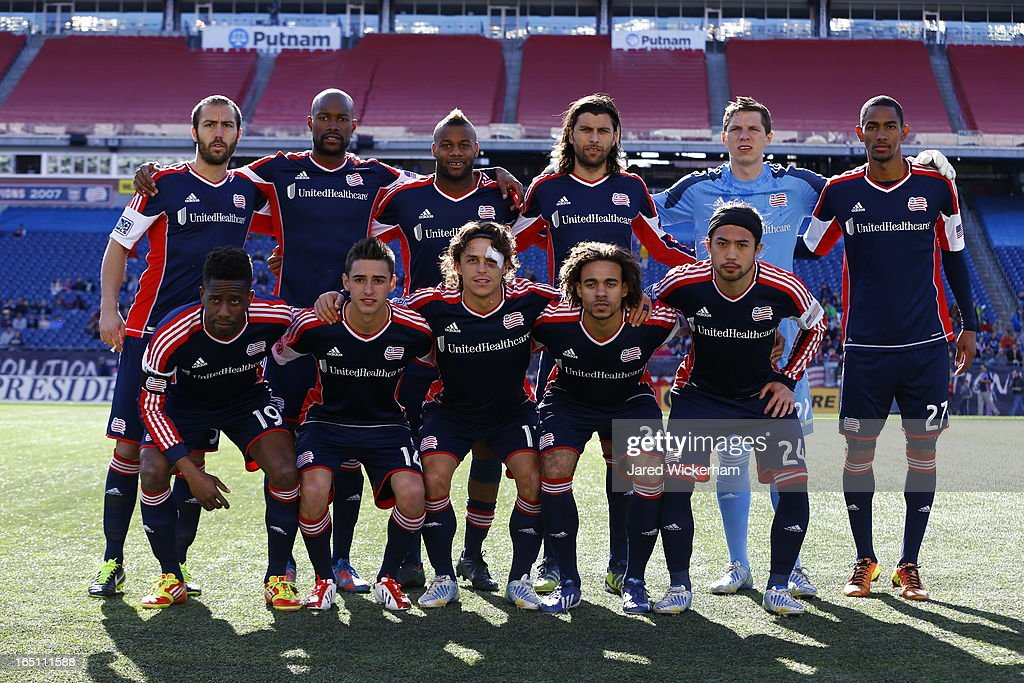 Members of the New England Revolution pose for a portrait prior to the game against FC Dallas at Gillette Stadium on March 30, 2013 in Foxboro, Massachusetts.