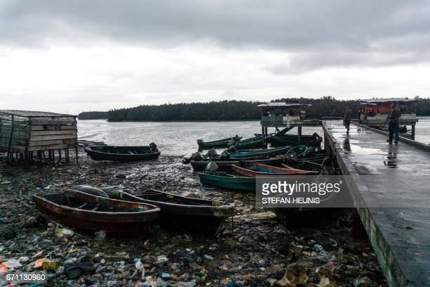 Members of the NNS Pathfinder of the Nigerian Navy forces are on patrol as they crack down on illegal oil refineries in the countrys oil heartland on...