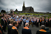 Members of the orange order hold a prayer service during their weekly picture id811290498?s=170x170