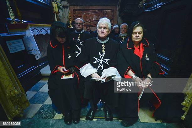 Members of the Order of Malta during a mass of installation 'Ingres' when Archbishop Marek Jedraszewski has become Archbishop of Krakow at Wawel...