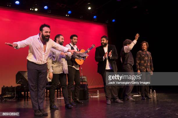 Members of the Paco de Lucia Project take a bow after their performance during a World Music Institute concert at Symphony Space New York New York...