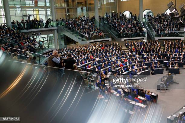 Members of the parliament for the opening session of the new Bundestag on October 24 2017 in Berlin Germany Today's is the first session since German...