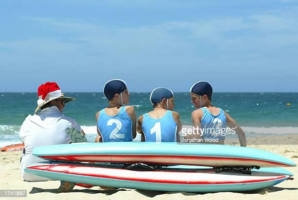 Members of the Peregian Surf Lifesaving Club relax