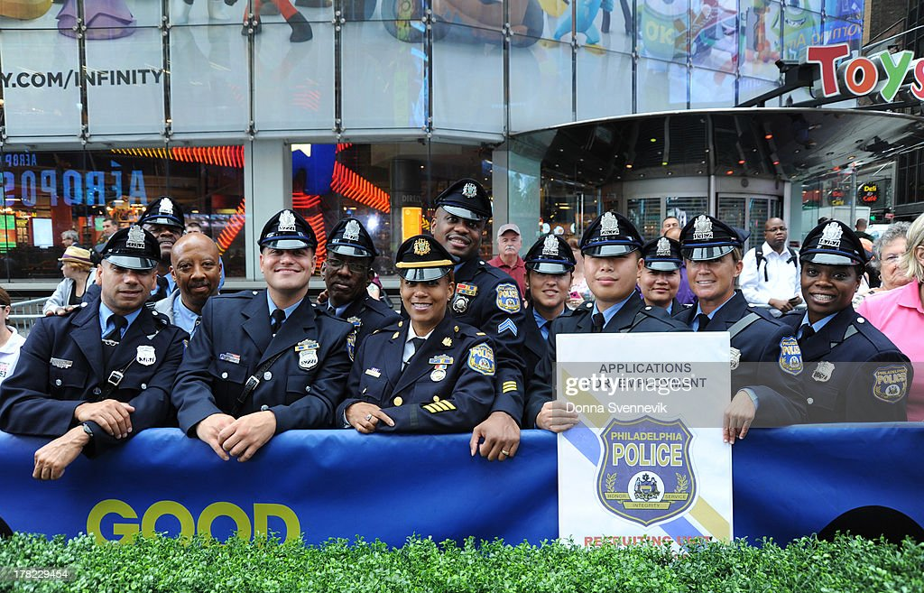 AMERICA - Members of the Philadelphia Police Department at 'Good Morning America,' 8/27/13, airing on the ABC Television Network. PHILADELPHIA