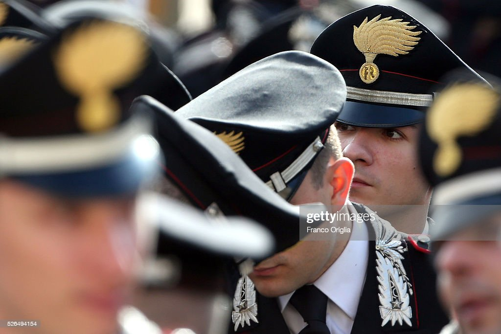 Members of the police and armed forces attend the Pope Francis' Jubilee Audience in St. Peter's Square on April 30, 2016 in Vatican City, Vatican. Pope Francis held an extraordinary Jubilee Audience in St. Peter's Square for thousands of eager pilgrims. The Audience also celebrated the Jubilee for members of the police and armed forces.