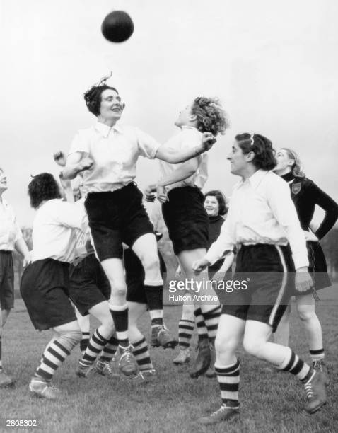Members of the Preston Ladies Football Club in training for a tour of Scotland and a match against the Belgian Ladies international team