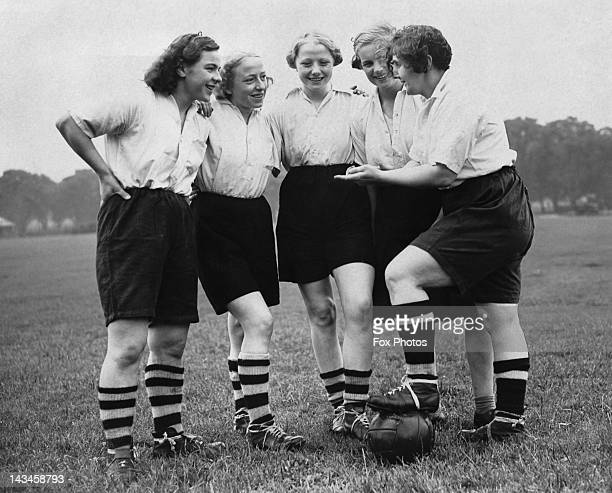 Members of the Preston Women's Football Team training for a match against a Belgian team 12th August 1939