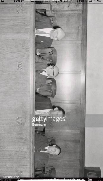 Members of the prosecution team in the trial of Dr Samuel Sheppard for the July 4th murder of his wife Marilyn are shown as they sat in the jury box...