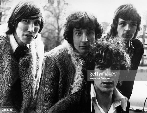 Members of the psychedelic pop group Pink Floyd From left to right Roger Waters Nick Mason Syd Barrett and Rick Wright
