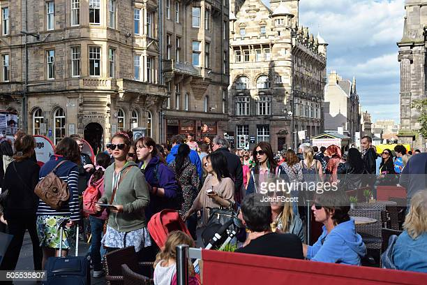 Members of the public and tourists during the Edinburgh Fringe
