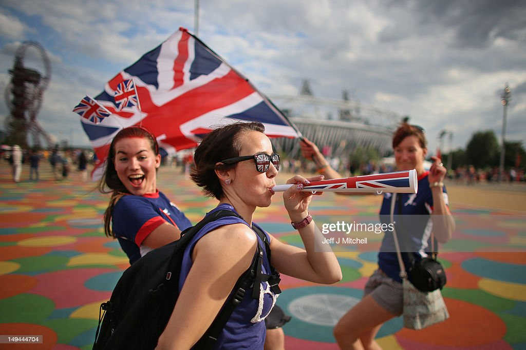 Members of the public arrive on day one of the London 2012 Olympic Games at the Olympic Park on July 28, 2012 in London, England.
