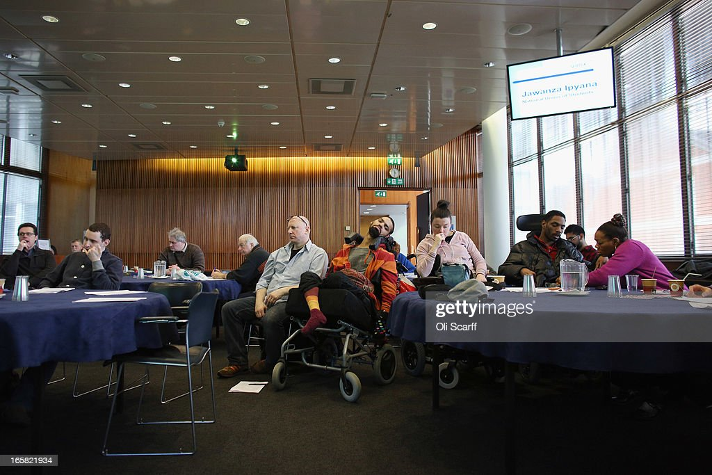 Members of the public attend a seminar for young disabled people and their supporters on April 6, 2013 in London, England. The one-day seminar was held in the TUC headquarters and addressed issues facing young disabled people such as challenges in education, employment at the effect of Government welfare cuts.